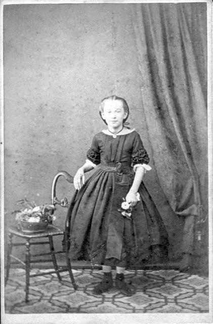 Mary Rebecca Weeden as a young girl