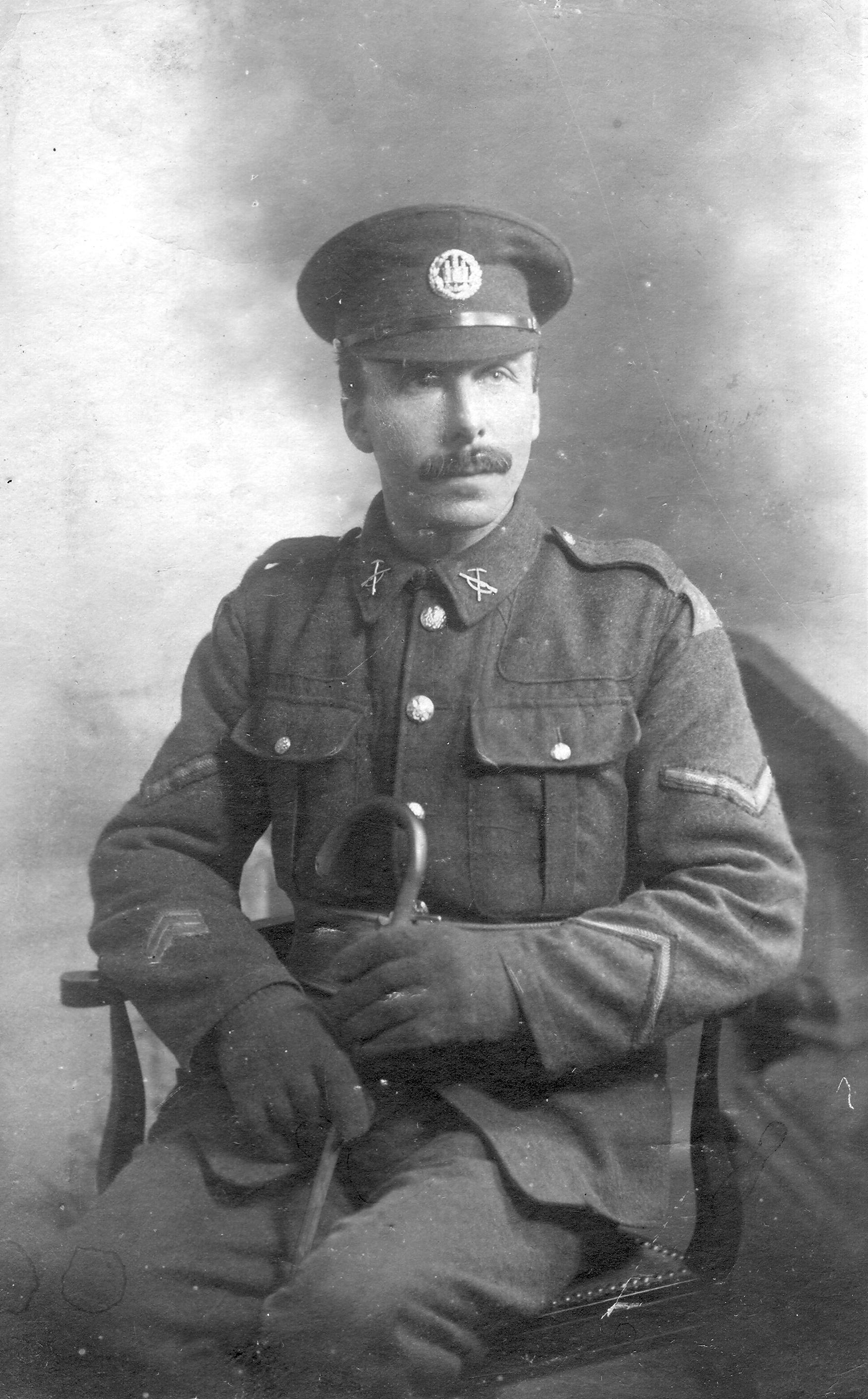 Ronald George Woodland in uniform